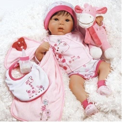 Realistic Handmade baby doll girl newborn life like Vinyl weighted gift reborn image