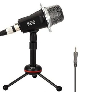 TONOR 3.5mm Professional Condenser Recording Podcast Microphone with Stand for Computer full Image