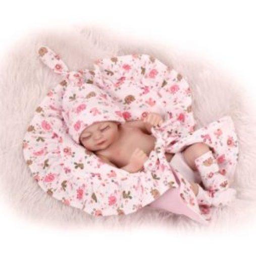 "10"" Lifelike Girl Baby Handmade Vinyl Silicone Reborn Doll Image"