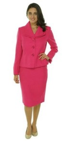 Evan Picone Women 2PC Long Sleeves Skirt Suit Image