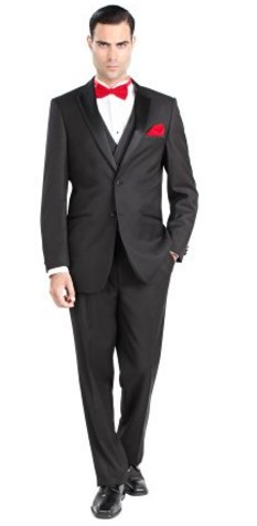 Giorgio Fiorelli Mens 2 Button 3 Piece Modern Fit Walton Tuxedo with Vest Full Image