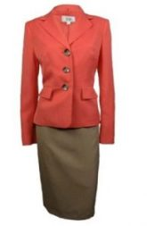 Le Suit Women's Cozumel Three Button Skirt Suit Image