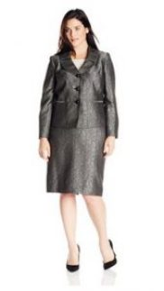 Le Suit Women's Plus-Size Jacket and Skirt Set Image