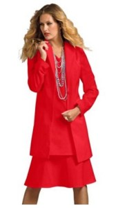 Roamans Women's Plus Size Duster Jacket With A-Line Dress Image