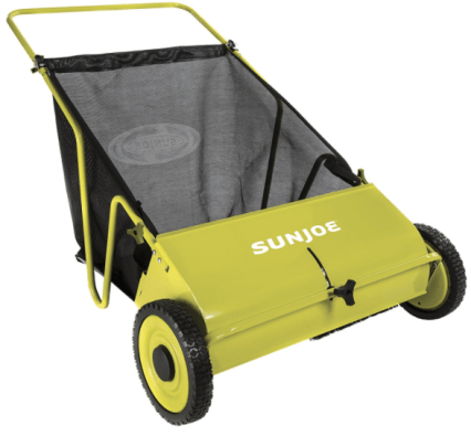 Sun Joe Manual Push Lawn Sweeper