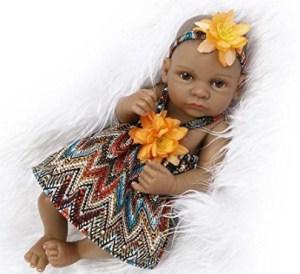 Terabithia Black Alive Reborn Silicone Baby Dolls