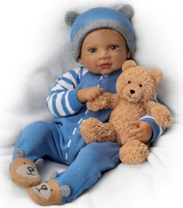 Waltraud Hanl Weighted and Poseable Reborn Baby Boy Doll
