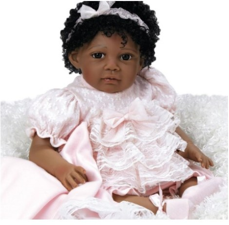 6ebe262e53 Paradise Galleries African American Realistic Girl Baby Doll Chantilly