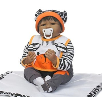 Nkol African American Lifelike Newborn Realistic Reborn Baby Doll