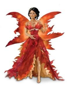 Porcelain Fantasy Fire Doll By Ashton Drake