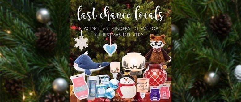 Order your Scentsy gifts today for on-time Christmas delivery!
