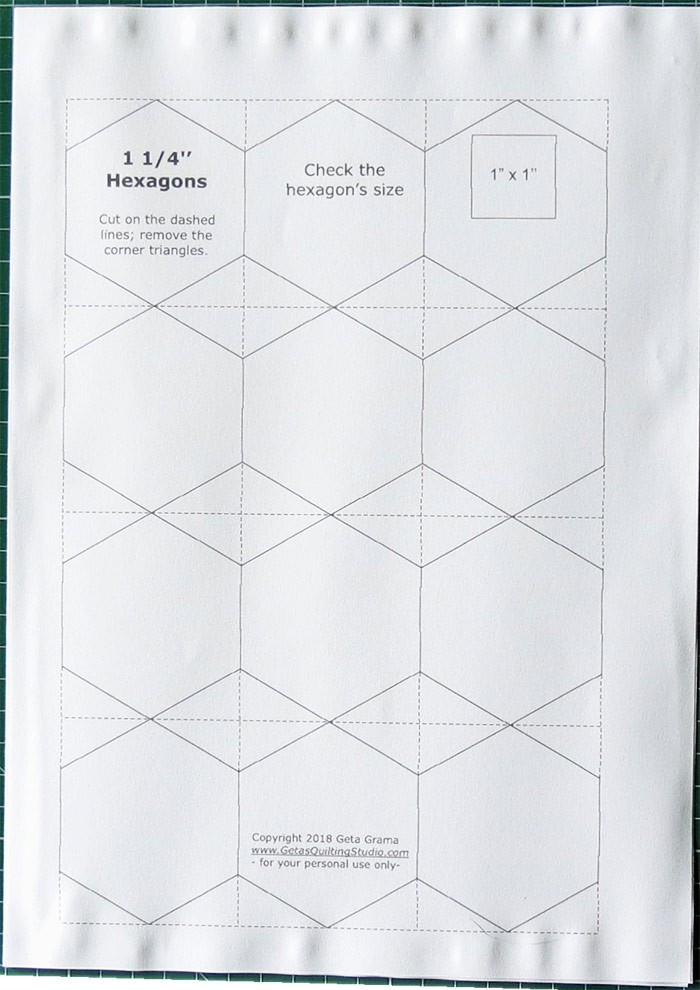 Quick and easy way to cut hexagon templates for English