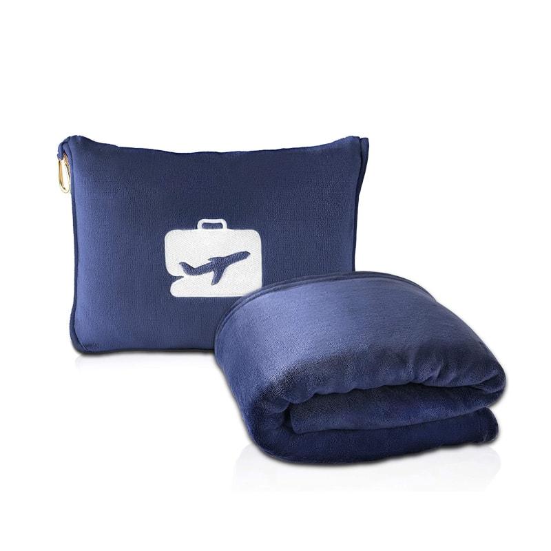 2 in 1 travel pillow blanket get