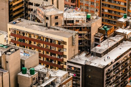 I spent three hours watching the city and shooting from the top of the Carlton Centre in Johannesburg. I was almost finished when I spotted this family sharing an ordinary moment…150 meters above the ground. The vision of the city and its chaotic urbanization sprang to my mind. - By Yann Macherez, Cape Town Canon 5D Mark II, Canon 70-200 f/4, ISO 800, f/11, 1/160 sec