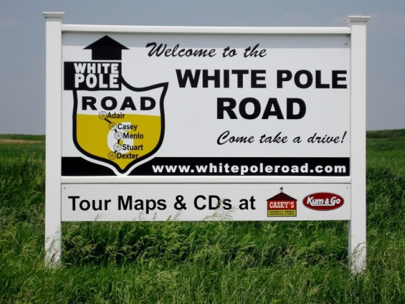 Way, way off the interstate in Iowa - White Pole Road formerly US Route 6