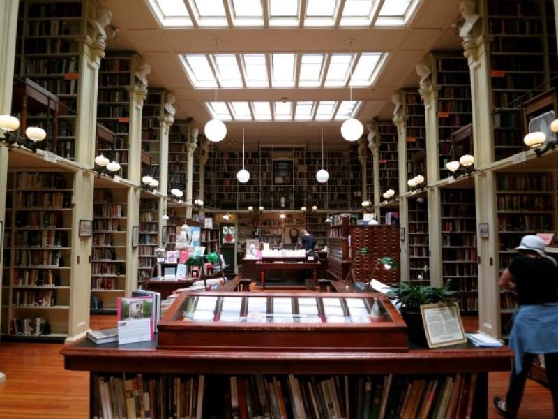 Interior stacks of Providence Anthenaeum