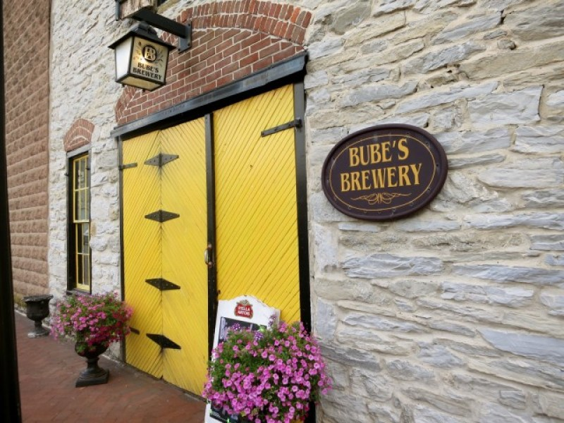 Front door of oldest operation Brewery in US, Mt. Joy, PA