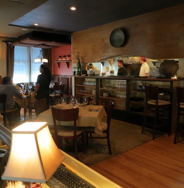 Interior of farm to table Restaurant Alba, Malvern, PA