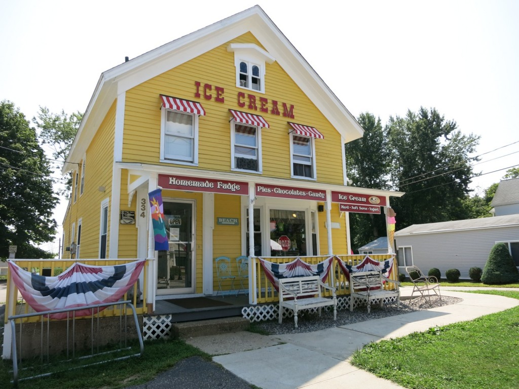 Dense, creamy ice-cream and penny candy in a Niantic CT sweet shop