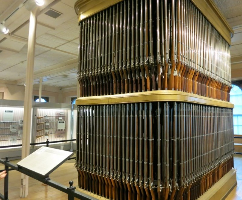 Organ of Muskets at Springfield Armory National Historic Site, Springfield MA