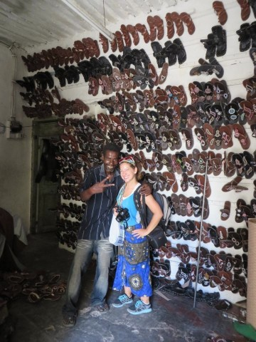 Sandal store in Mombassa, Kenya