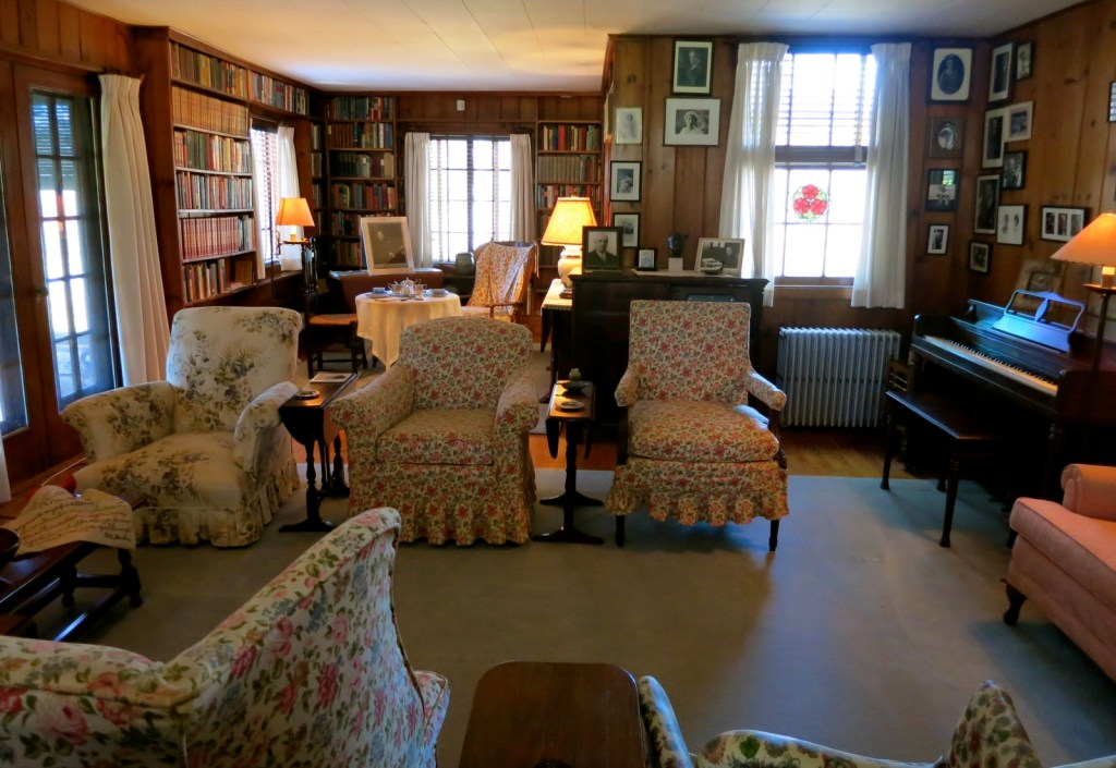 Parlor, Tea table set for JFK, Val Kill, Eleanor Roosevelt Historic Site, Hyde Park NY