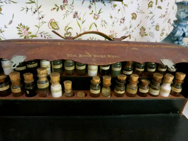 Harriet Beecher Stowe's portable medicine cabinet, Stowe Center, Hartford CT