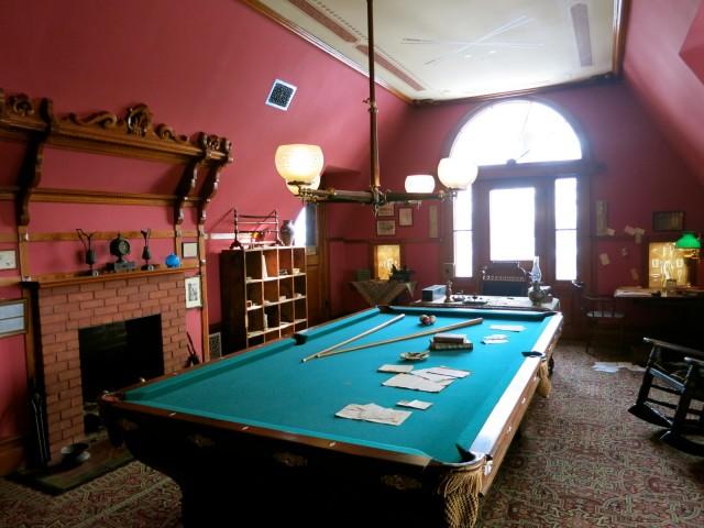 Billiards Room at Mark Twain House, Hartford CT