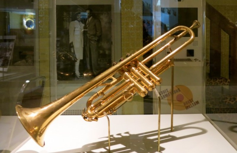 Sachmo Gold Plated Trumpet, Louis Armstrong House and Museum, Corona, NY