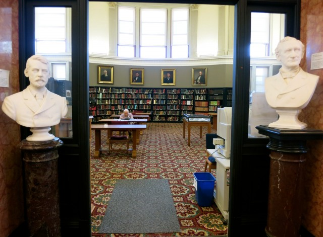New Hampshire Genealogy Library in the State Library Building, Concord, NH