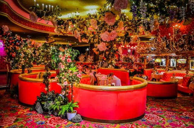 Madonna Inn dining: Gold Rush Steakhouse.