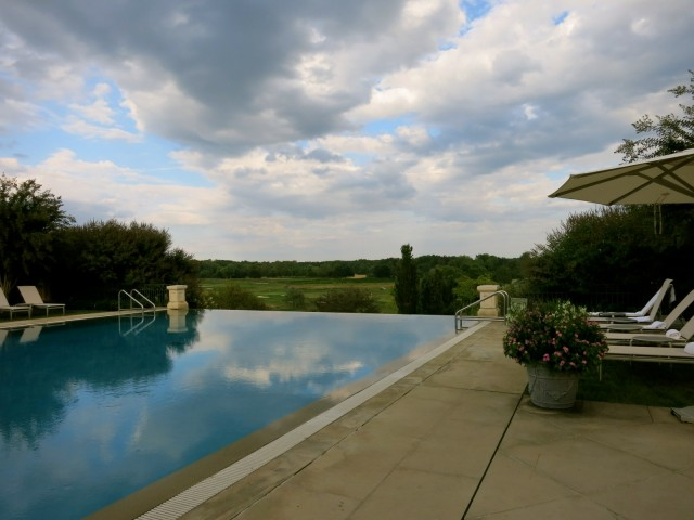 Pool overlooking Pete Dye Course