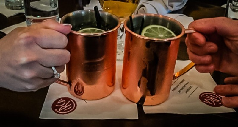 Moscow Mule cocktails - Circa at Foggy Bottom - Washington DC in a Day