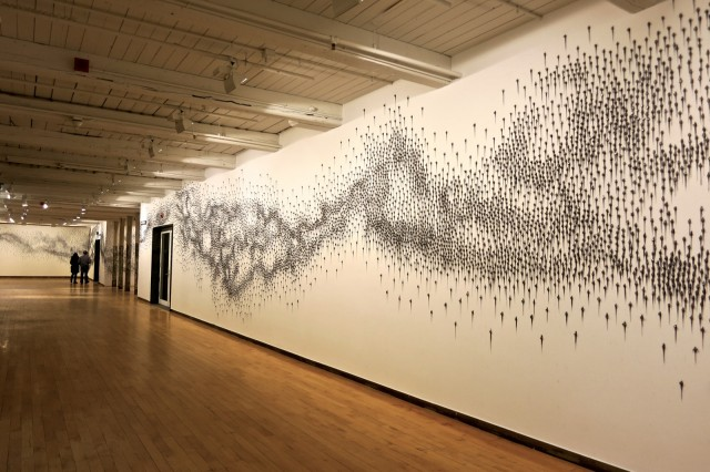 Teresita Fernandez 27,000 pieces of Graphite Installation