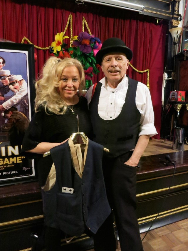 Dietrich and Brookz with Houdini's Vest, Houdini Museum, Scranton PA