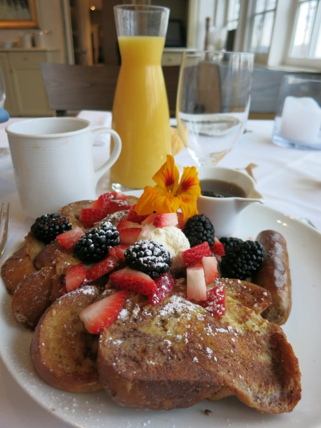French Toast, Golden Pheasant Inn, Upper Bucks County
