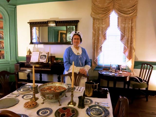 Rising Sun Tavern tour, Jo Atkins channeling Elizabeth Frazier, Fredericksburg VA
