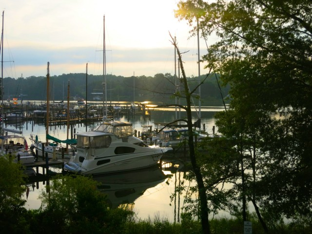 Holiday Inn Solomons, MD marina sunrise