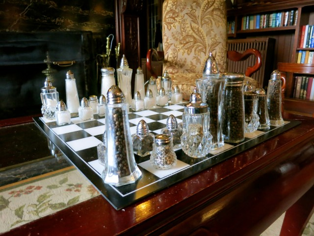 Salt and Pepper Chess Set, Manor on Golden Pond, NH