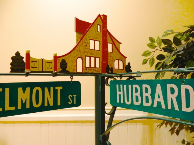 Hubbard Home Street Sign, Wethersfield CT