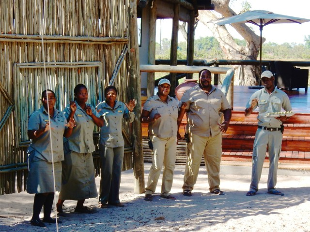 Staff at Seba Camp Welcome Song