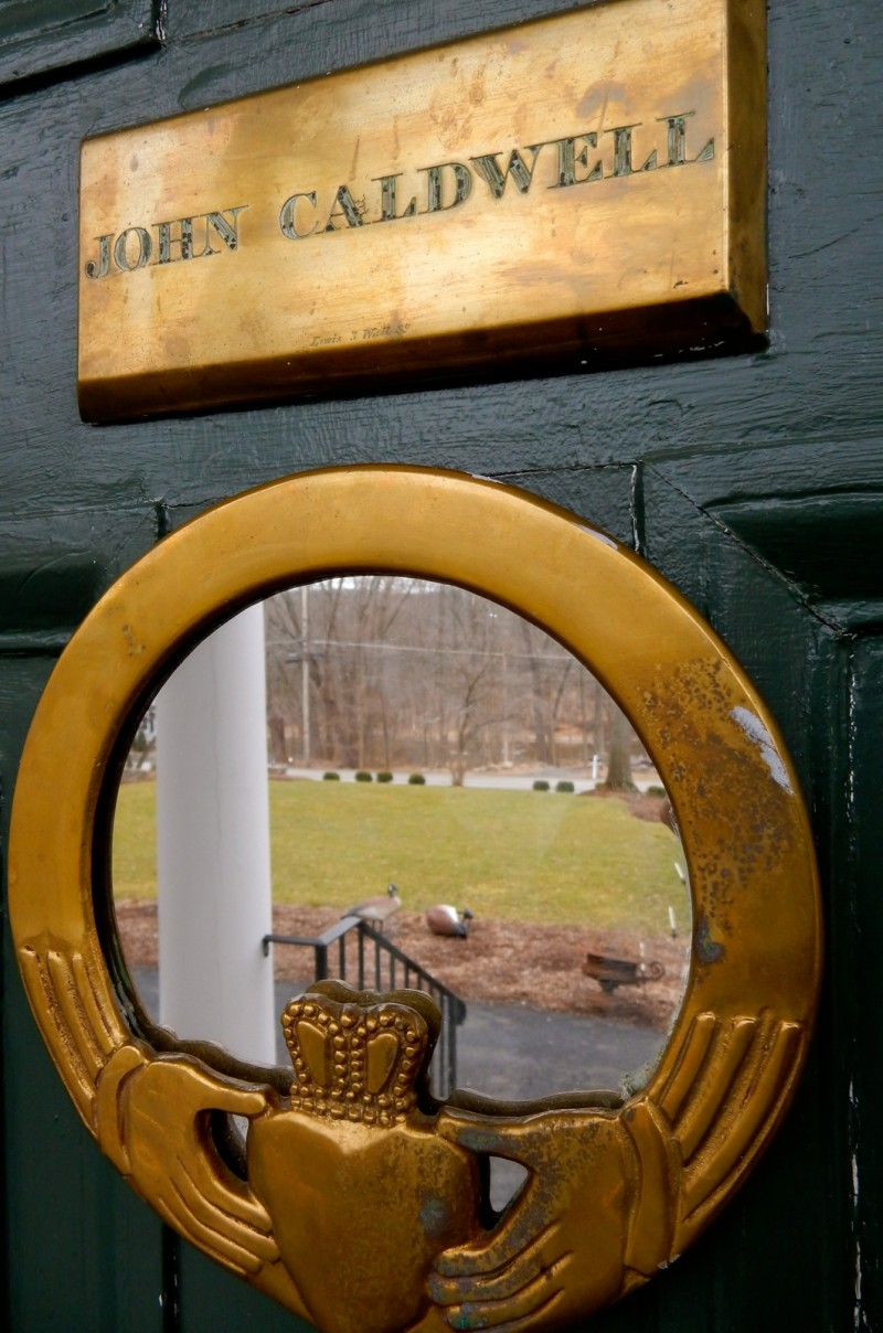 Caldwell House Front Door, Salisbury NY