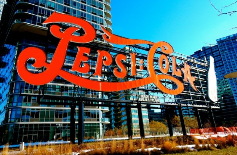 Pepsi Cola Sign on East River, Long Island City