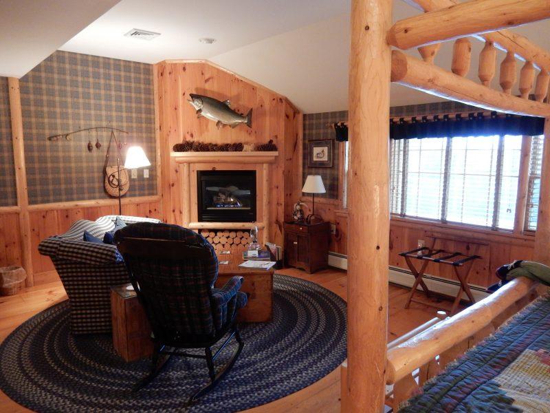 Gas Fireplace Sitting Area, Cedar Glen Room, Rabbit Hill Inn VT