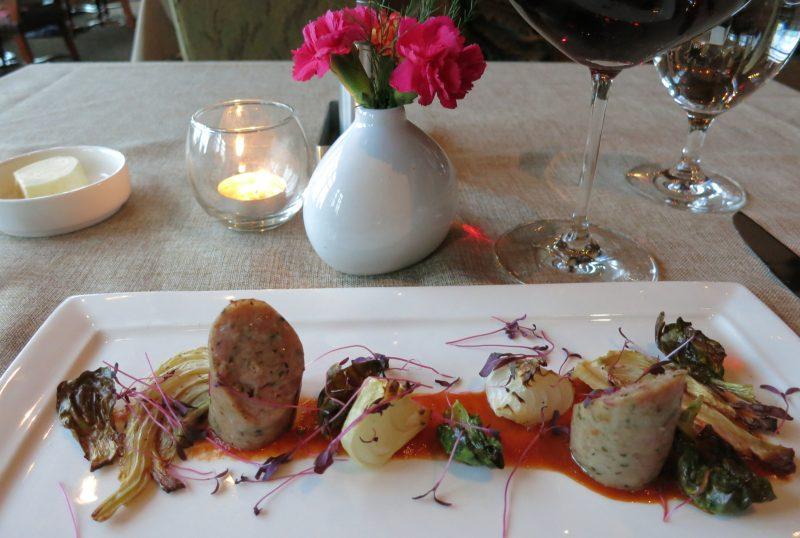 Pheasant Sausage, Tree Restaurant, Lodge at Woodloch
