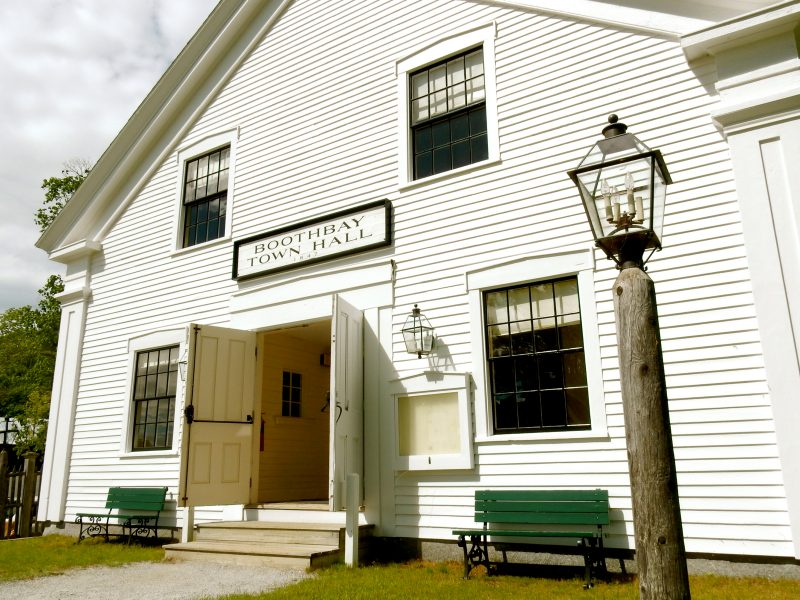 Boothbay Town Hall at Boothbay Railway Village ME