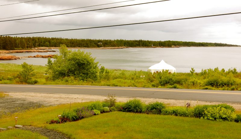 Guestroom window view, Acadia's Oceanside Meadows Inn, Prospect Harbor, ME