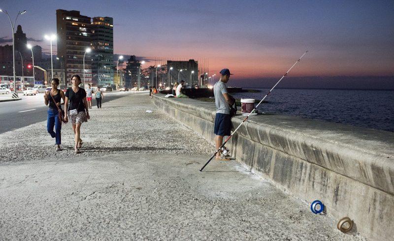 Fishing - Malecon - Havana, Cuba