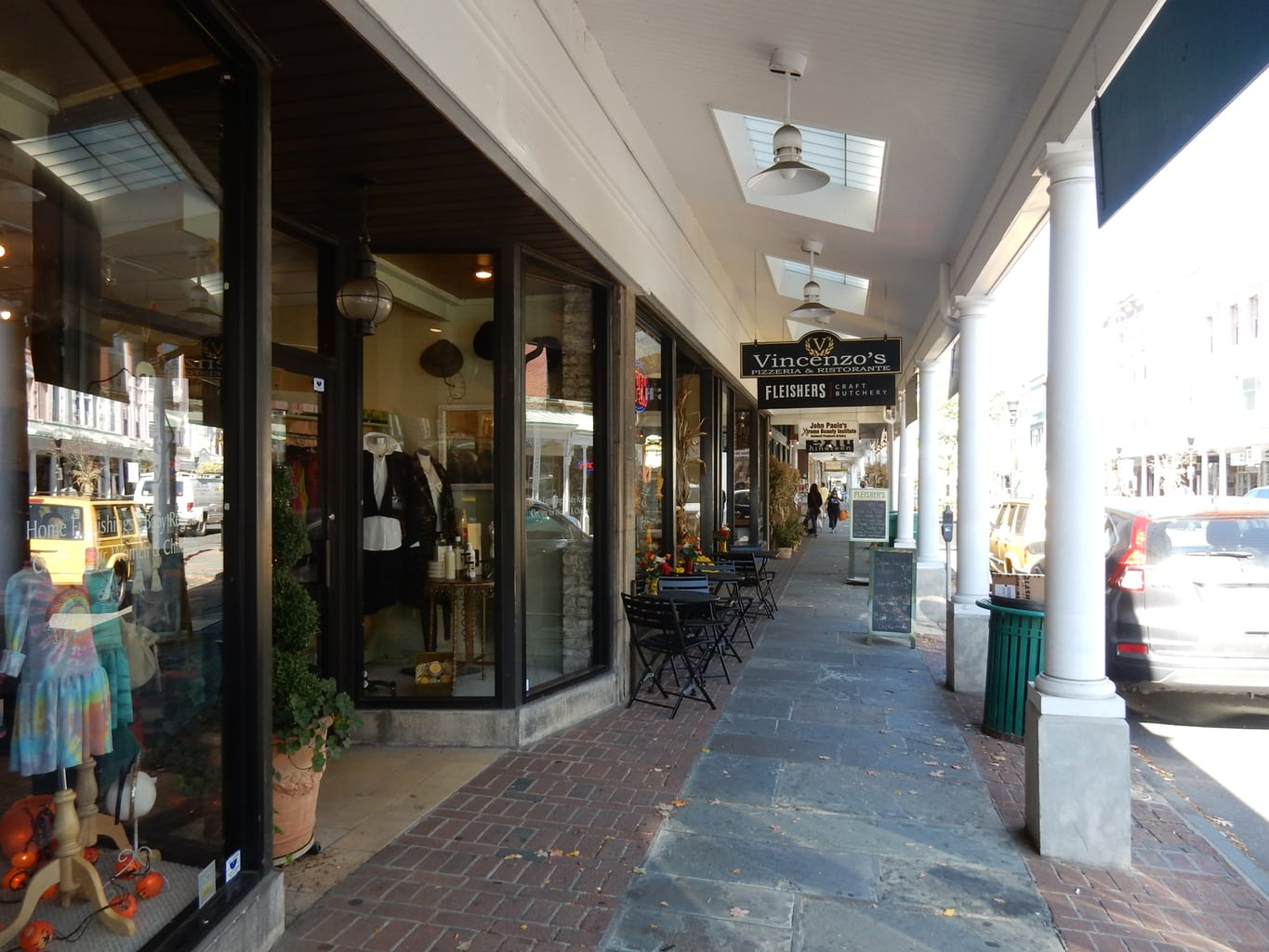 a7e163e368d7 WALK/SHOP: Stockade District Shopping Area. Sidewalks on the two main  shopping streets are covered like old-fashioned arcades making shopping a  pleasurable, ...
