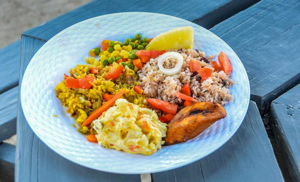 Grand Cayman Local Food - Vivines Kitchen Plate
